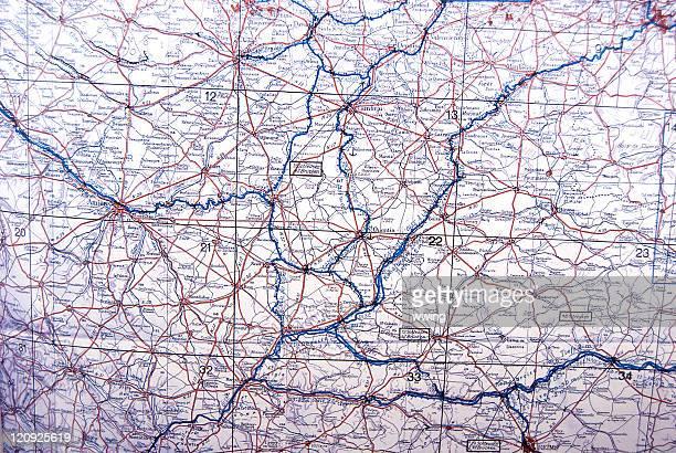 Guerre mondiale deux Allemands carte