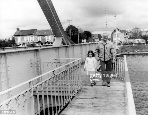 World War Two Second World War Joe Carr from West Moor with his granddaughter Lindsey Anderson on the Pegasus Bridge in Normandy 40 years after Joe's...