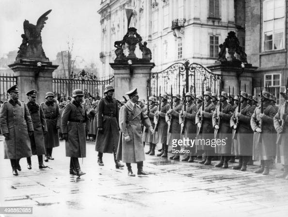 World War Two The German occupation of Bohemia and Moravia The German army marching into Prague Castle on March 15 1939
