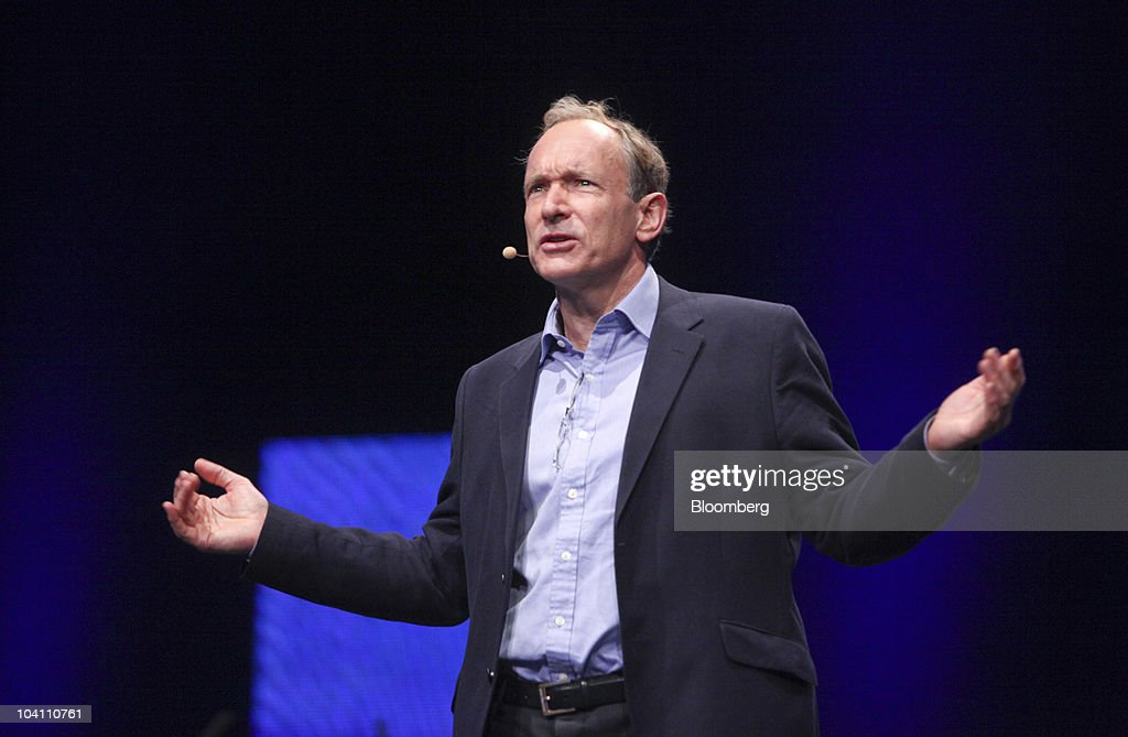 World Wide Web inventor <a gi-track='captionPersonalityLinkClicked' href=/galleries/search?phrase=Tim+Berners-Lee&family=editorial&specificpeople=2609258 ng-click='$event.stopPropagation()'>Tim Berners-Lee</a> speaks at the Nokia World event in London, U.K., on Wednesday, Sept. 15, 2010. Nokia Oyj, trying to claw back ground lost to Apple Inc.'s iPhone, said its new N8 smartphone got the most preorders the company has ever had for any product. Photographer: Chris Ratcliffe/Bloomberg via Getty Images