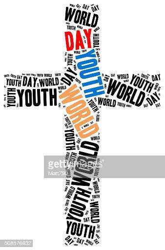 Weltjugendtag. Katholische und Päpstliche Urlaub. : Stock-Foto