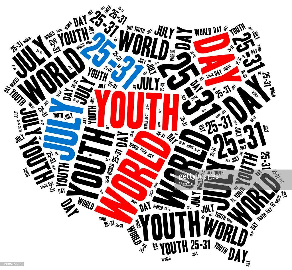World youth day. Catholic and papal holiday. : Stock Photo