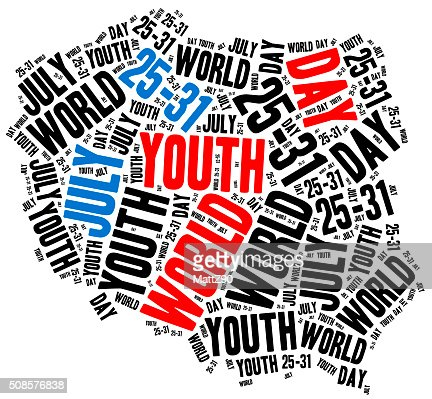 World youth day. Catholic and papal holiday. : Stock Photo
