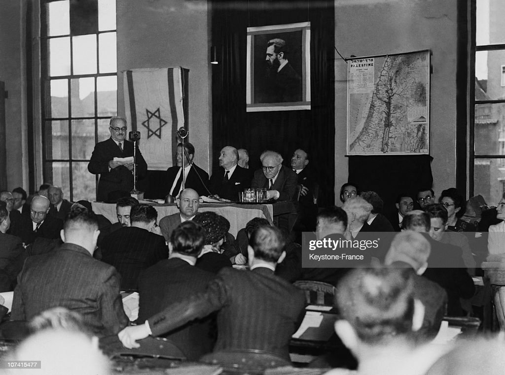 World Zionist Conference In London On August 2Nd 1945