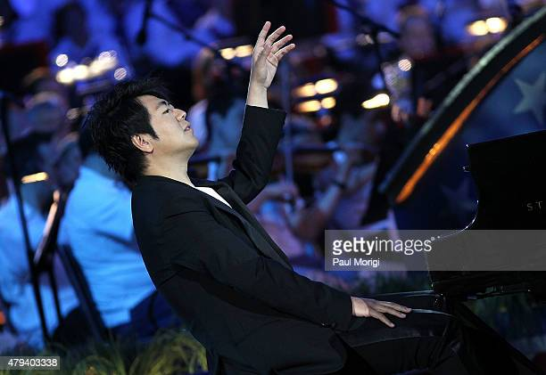 Worldrenowned pianist Lang Lang performs at A Capitol Fourth 2015 Independence Day Concert dress rehearsals on July 3 2015 in Washington DC
