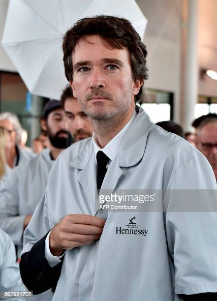 World's biggest luxury goods company LVMH's CEO's son group administrator Antoine Arnault visits the world leader for the production of Cognac...