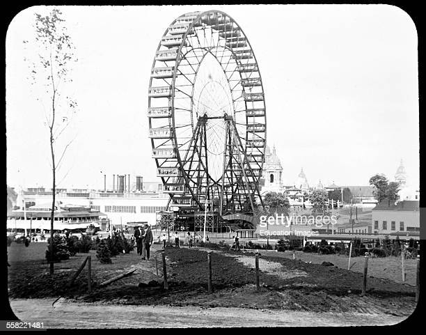World's Fair 'Observations Wheel' Ferris Wheel Vintage Photograph