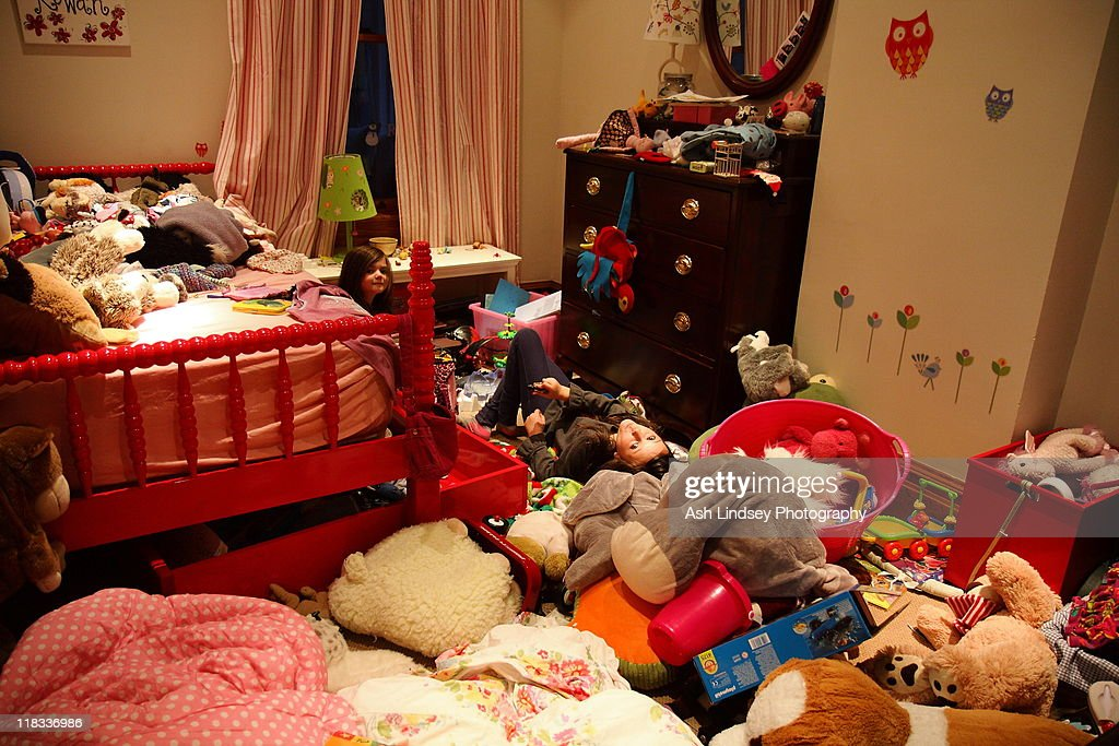 Worlds messiest kids room : Stock Photo