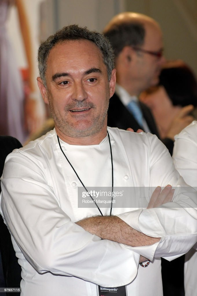 World's top Chef Ferran Adria attends the 'Alimentaria 2010' at the Fira Gran 2 on March 22, 2010 in Barcelona, Spain.