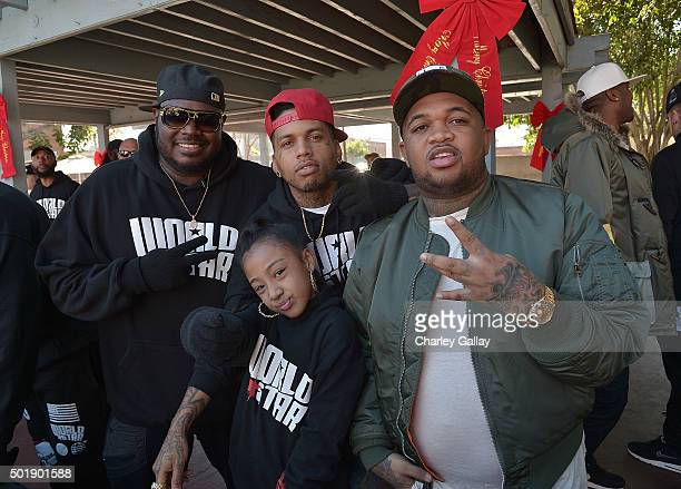WorldStarHipHop Founder Lee ÒQÓ O'Denat recording artists Jayla Marie and Kid ink and DJ Mustard participate in WorldStarHipHop's 3rd Annual Skid Row...
