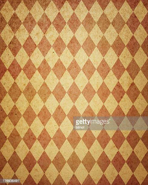 worn diamond pattern brown paper