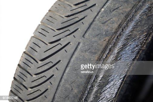 worn out tyre