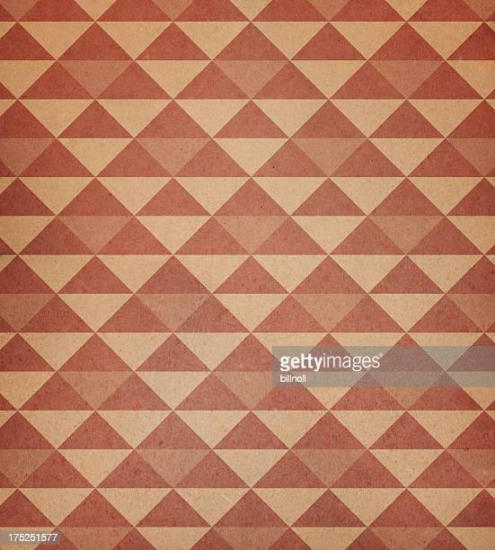 worn paper with triangle pattern