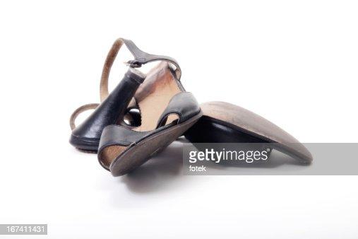 Worn shoes : Bildbanksbilder