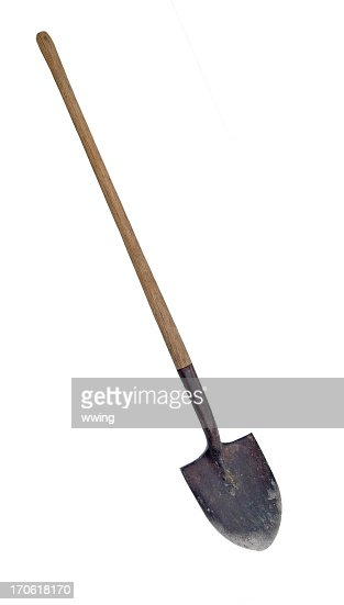 Worn Shovel ... Clipping Path