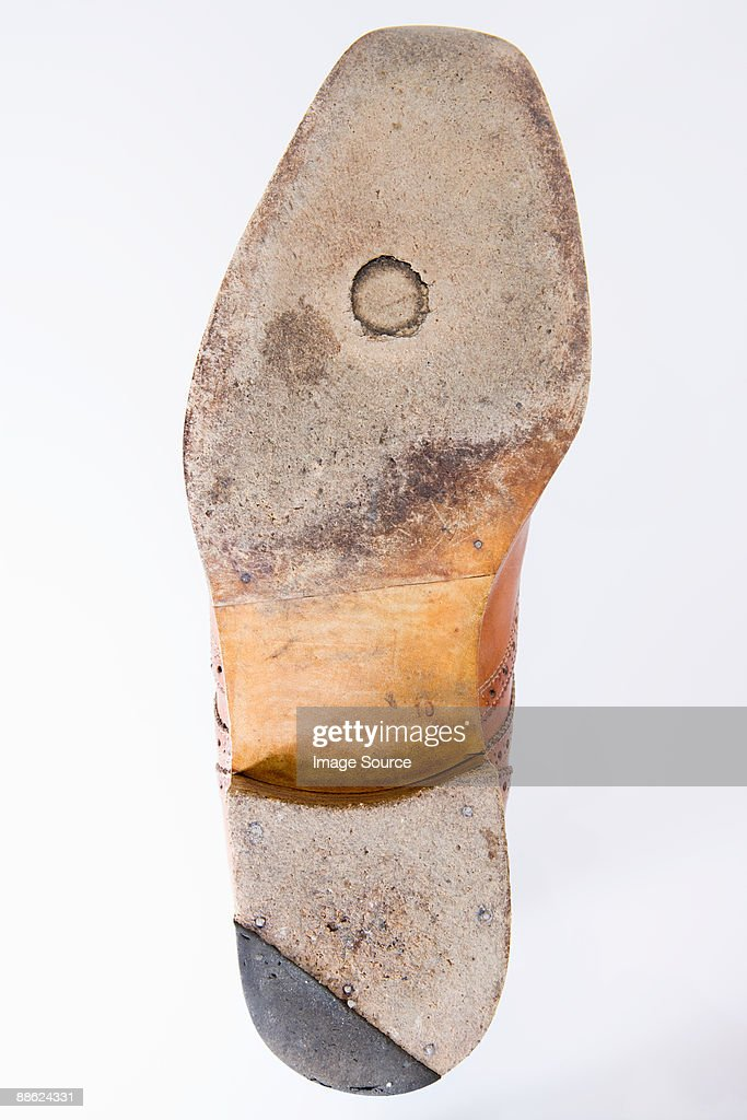 Worn sole of a shoe