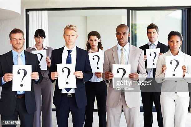Worried business team