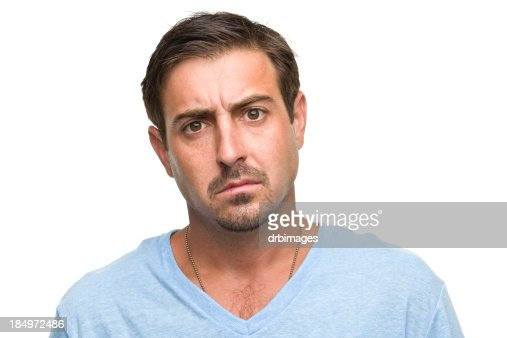 Worried Man Headshot