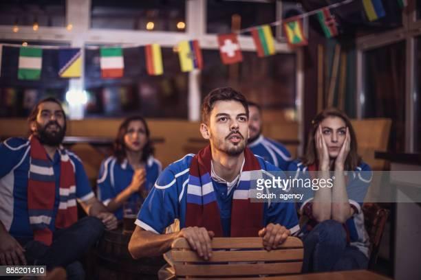 Worried sports fans