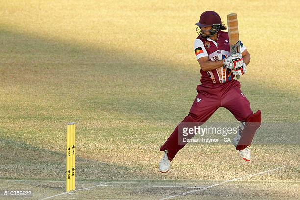 Worrin Williams of Queensland bats during the National Indigenous Cricket Championships Men's Final on February 15 2016 in Alice Springs Australia