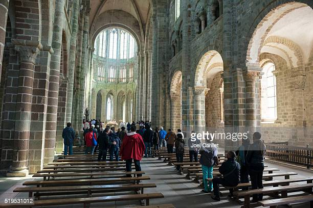 Abbaye de culte de l'église sur le Mont Saint-Michel, France