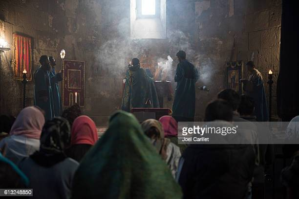 Worship at Tatev Monastery in Armenia