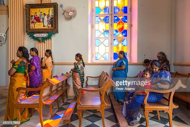 Worshipers, Our Lady of Angels Church, Pondicherry