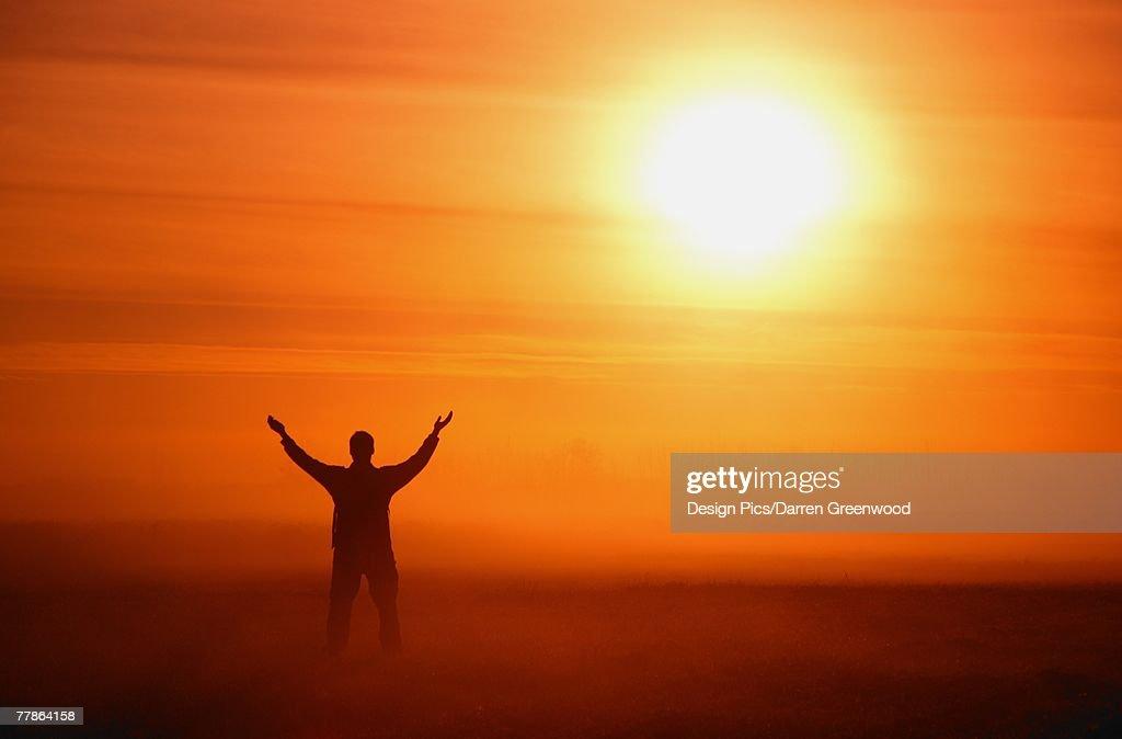 Worshipping God : Stock Photo