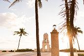 Sunrise on Worth Avenue, Palm Beach, Florida on 3/14/2018.
