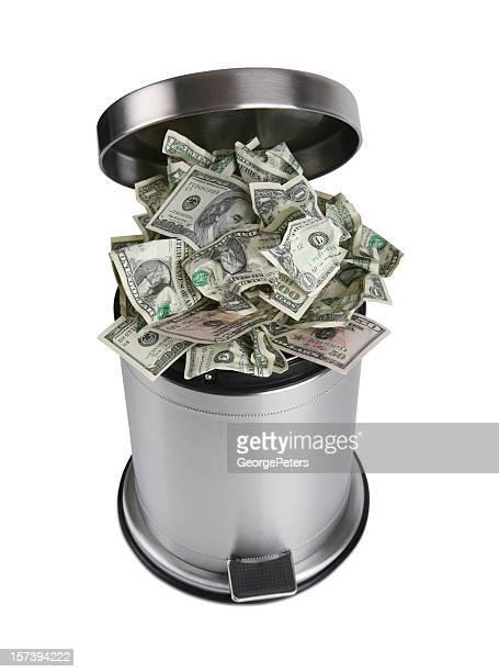 Valeur de l'argent avec un Tracé de détourage