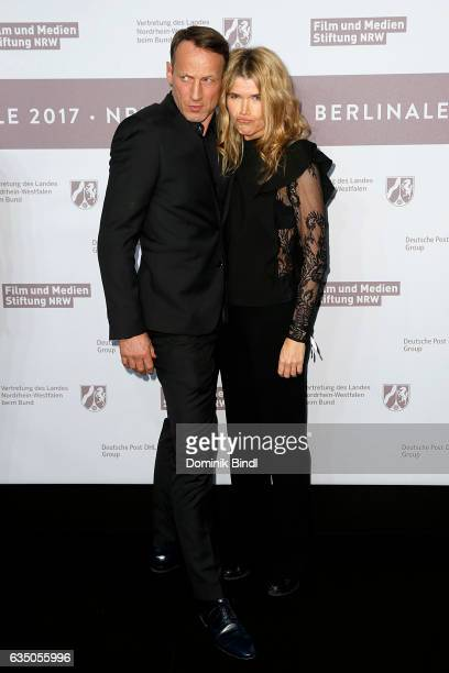 Wotan Wilke Moehring and Anke Engelke attend the NRW Reception at the Landesvertretung during the 67th Berlinale International Film Festival on...