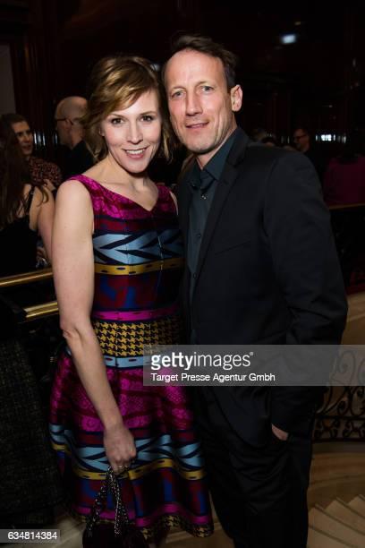 Wotan Wilke Moehring and Franziska Weisz attend the Medienboard BerlinBrandenburg Reception during the 67th Berlinale International Film Festival...