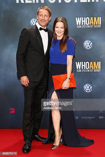 Wotan Wilke Moehring and Hannah Herzsprung attend the premiere of the film 'Who am I' at Zoo Palast on September 23 2014 in Berlin Germany