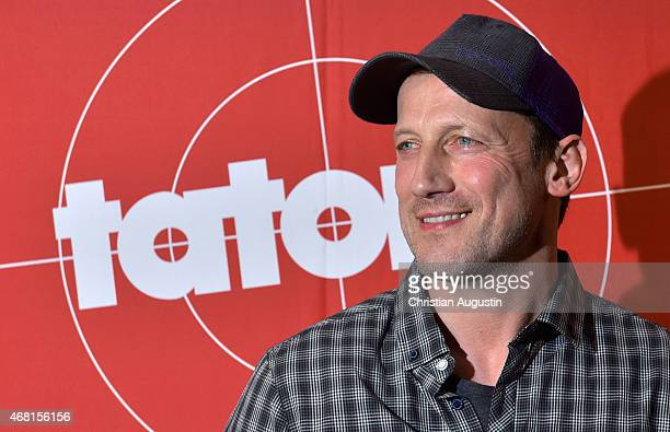 Wotan Wilke Moehring attends Photocall for TV production Tatort 'Frohe Ostern Falke' at East Hotel on March 30 2015 in Hamburg Germany