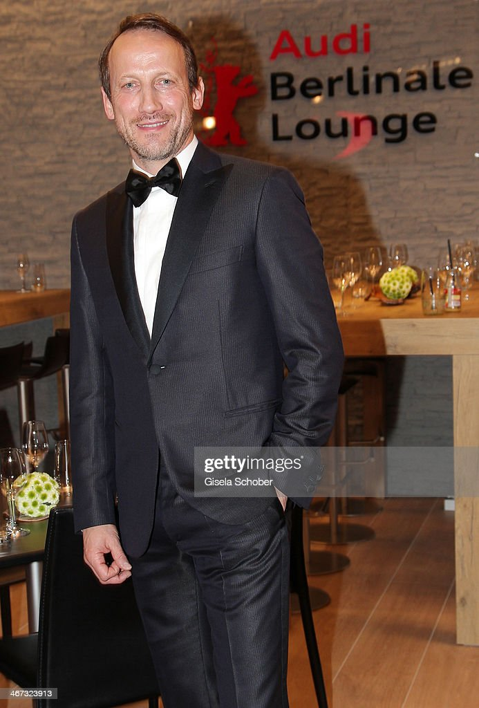 Wotan Wilke Moehring pose inside the AUDI Lounge at the Marlene Dietrich Platz during day 1 of the Berlinale International Film Festival on February 6, 2014 in Berlin, Germany.