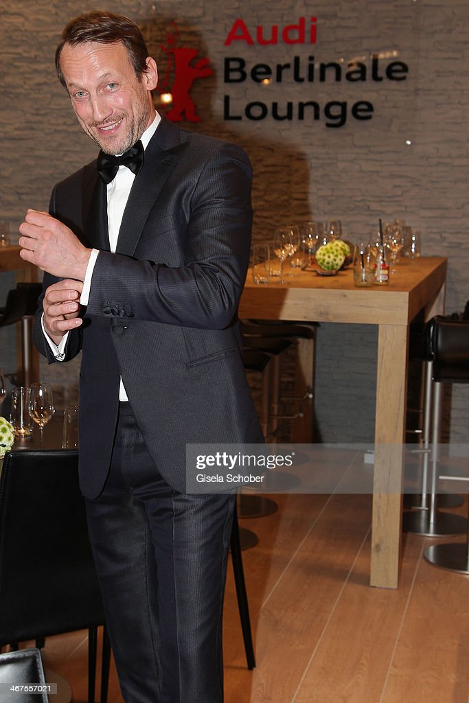 Wotan Wilke Moehring poses inside the AUDI Lounge at the Marlene Dietrich Platz during day 1 of the Berlinale International Film Festival on February 6, 2014 in Berlin, Germany.