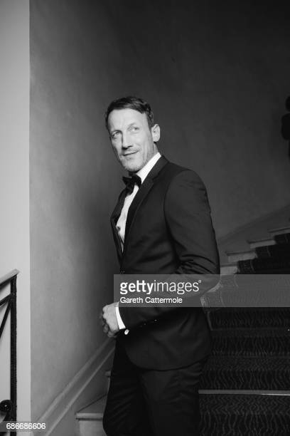 Wotan Wilke Mohring departs the Martinez Hotel on May 20 2017 in Cannes France