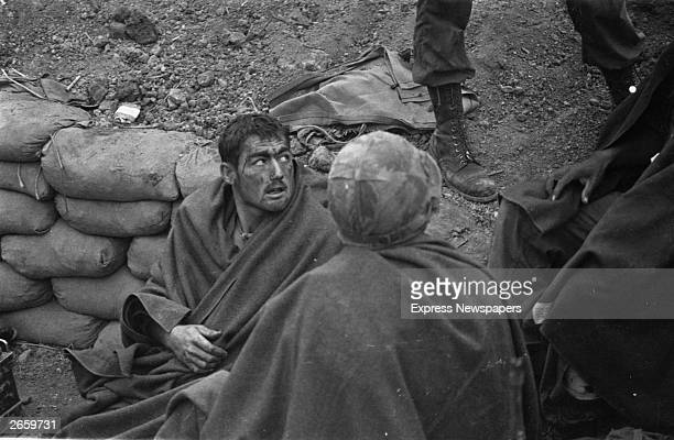 Wounded American soldiers on Hill Timothy during the Vietnamese conflict