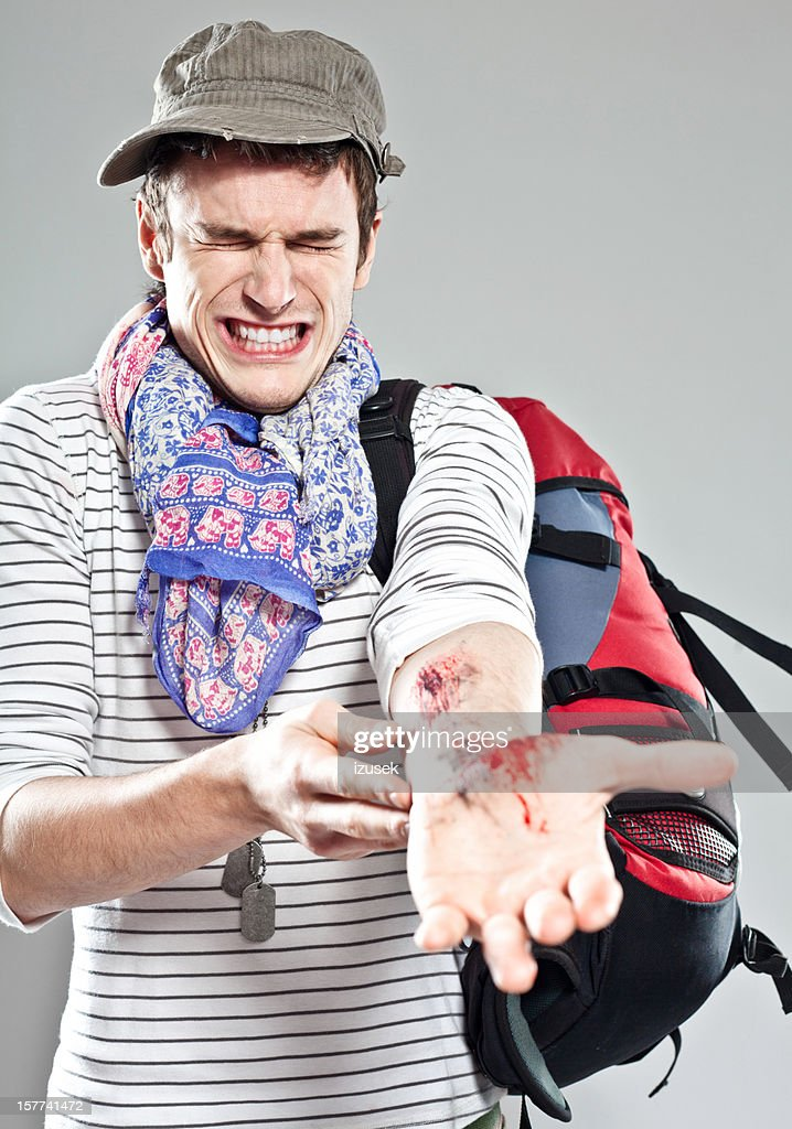 Wounded Backpacker