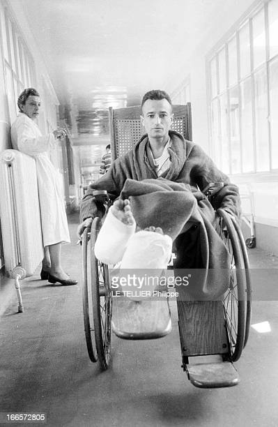 Wounded Of The Battle Of DienBienPhu At The Hospital France mai 1945 portrait de soldats français blessés à DienBienPhu et hospitalisés Le capitaine...