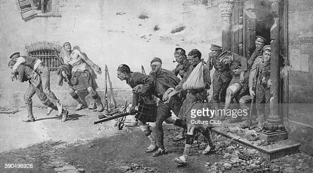 Wounded soldiers escape from a bombed church France 1914 Churches in France and Belgium were often used as temporary hospitals but the red cross...