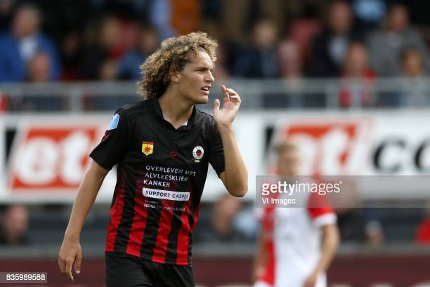 Wout Faes of Excelsior during the Dutch Eredivisie match between sbv Excelsior Rotterdam and Feyenoord Rotterdam at Van Donge De Roo stadium on...