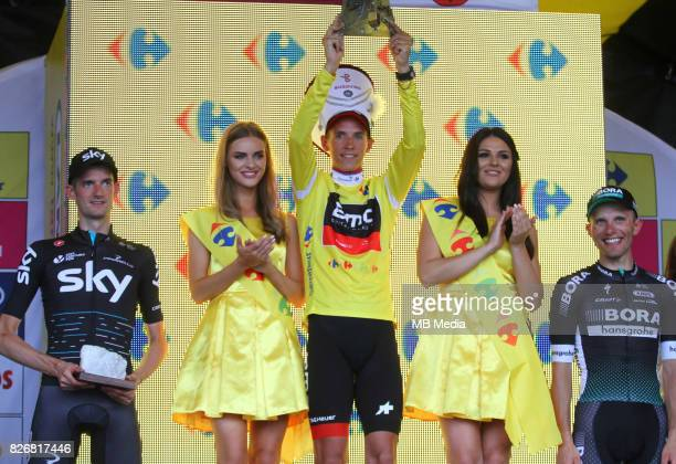 Wout Poels Dylan Teuns Rafal Majka during the Stage 7 of 74th Tour de Pologne on August 4 2017 in Bukowina Tatrzanska Poland