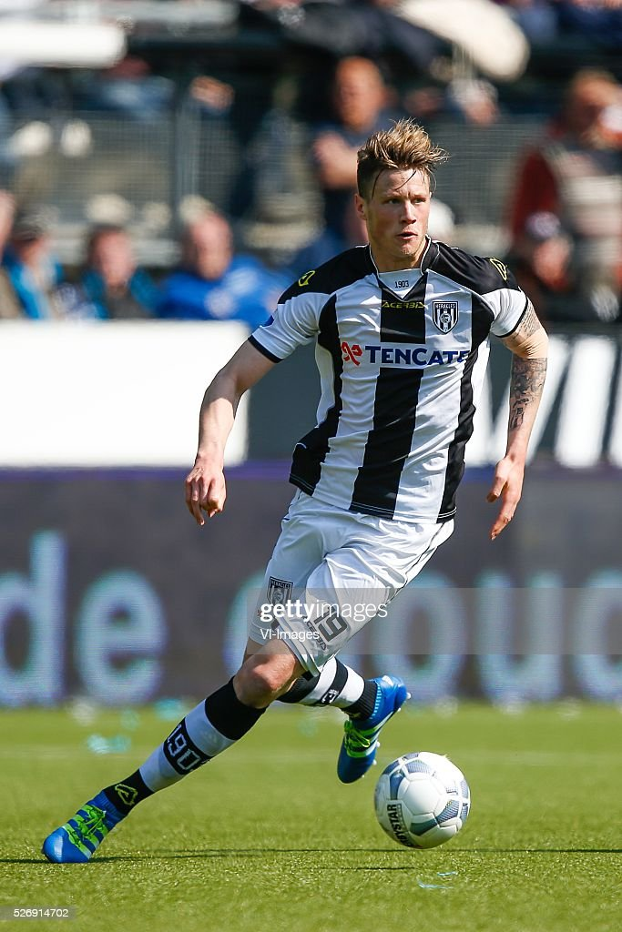 Wout Weghorst of Heracles Almelo during the Dutch Eredivisie match between Heracles Almelo and ADO Den Haag at Polman stadium on May 01, 2016 in Almelo, The Netherlands