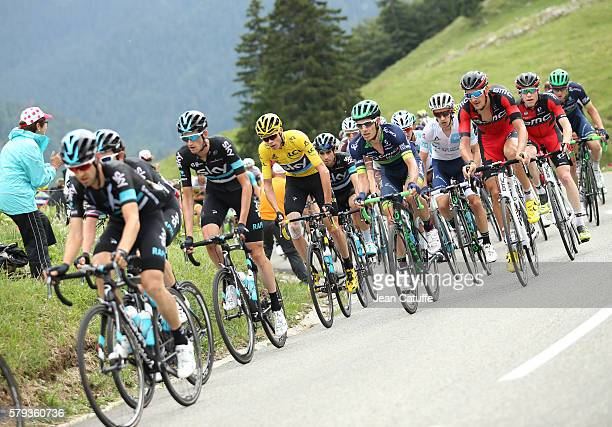 Wouter Poels of The Netherlands and Team Sky Chris Froome of Great Britain and Team Sky Daryl Impey of USA and OricaBikeExchange Adam Yates of Great...
