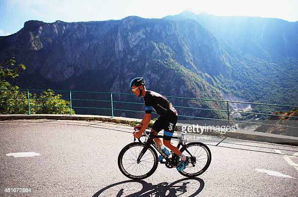 Wouter Poels of the Netherlands and Team Sky during Stage Eighteen of the 2015 Tour de France a 1865km stage between Gap and SaintJeandeMaurienne on...