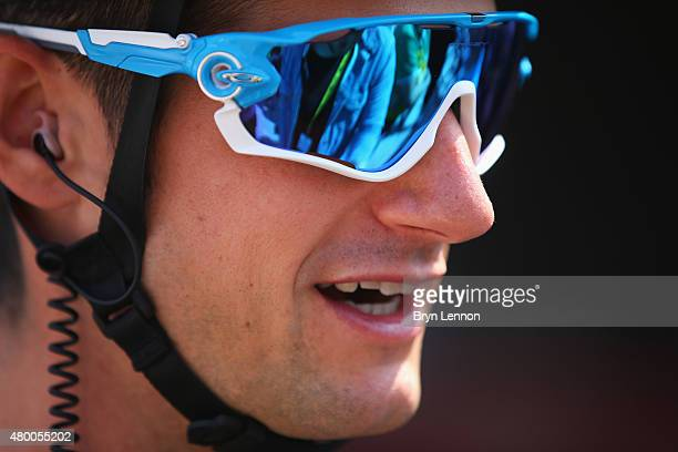 Wouter Poels of the Netherlands and Team Sky looks on prior to stage six of the 2015 Tour de France a 1915km stage between Abbeville and Le Havre on...