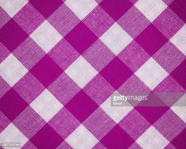 Tejido de algodón con cuadro vichy patrón