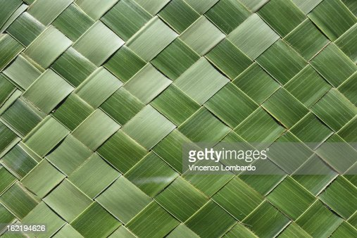 Woven palm leaves