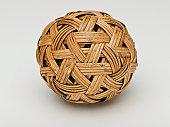 A woven wicker ball